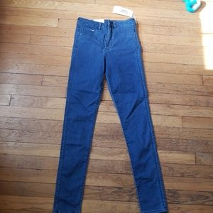 H&M &denim conscious high waisted jeggings jeans